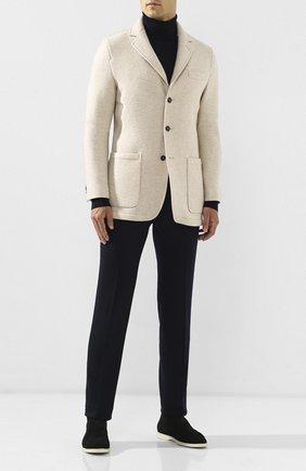 Мужской кашемировый пиджак KITON бежевого цвета, арт. UW0606V03S09   Фото 2