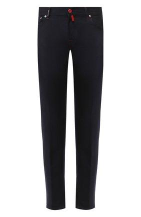 Мужской шерстяные брюки KITON темно-синего цвета, арт. UPNJSK02S00 | Фото 1