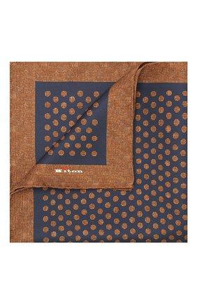 Мужской шелковый платок KITON коричневого цвета, арт. UP0CHCX02S55 | Фото 1