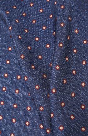 Мужской шелковый платок KITON синего цвета, арт. UP0CHCX02S55 | Фото 2