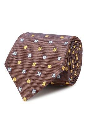 Мужской шелковый галстук KITON коричневого цвета, арт. UCRVKLC09F51 | Фото 1
