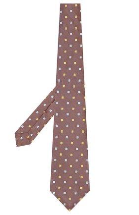 Мужской шелковый галстук KITON коричневого цвета, арт. UCRVKLC09F51 | Фото 2