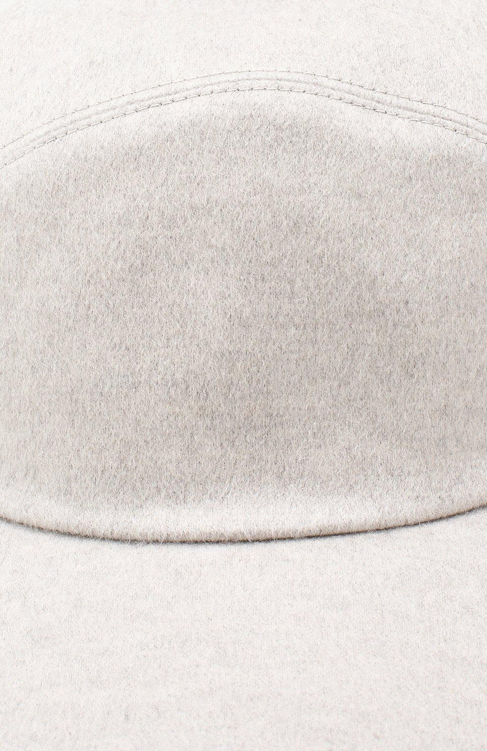 Мужской кашемировая бейсболка  LORO PIANA светло-серого цвета, арт. FAF4352 | Фото 3