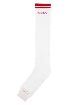 Мужские хлопковые носки GUCCI белого цвета, арт. 497462/4G293 | Фото 1