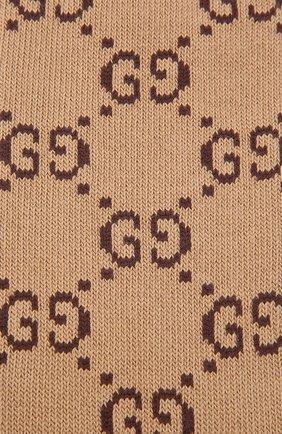 Мужские хлопковые гольфы GUCCI коричневого цвета, арт. 471093/4G592   Фото 2