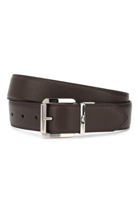 Мужской кожаный ремень BRIONI темно-коричневого цвета, арт. 0BZ40L/08752 | Фото 1