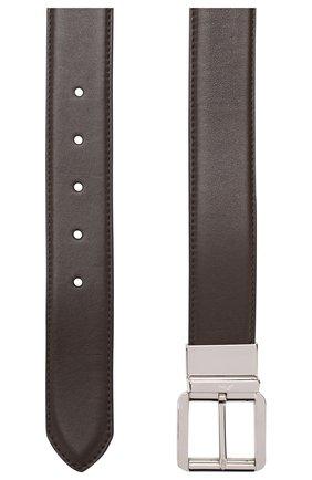 Мужской кожаный ремень BRIONI темно-коричневого цвета, арт. 0BZ40L/08752 | Фото 2