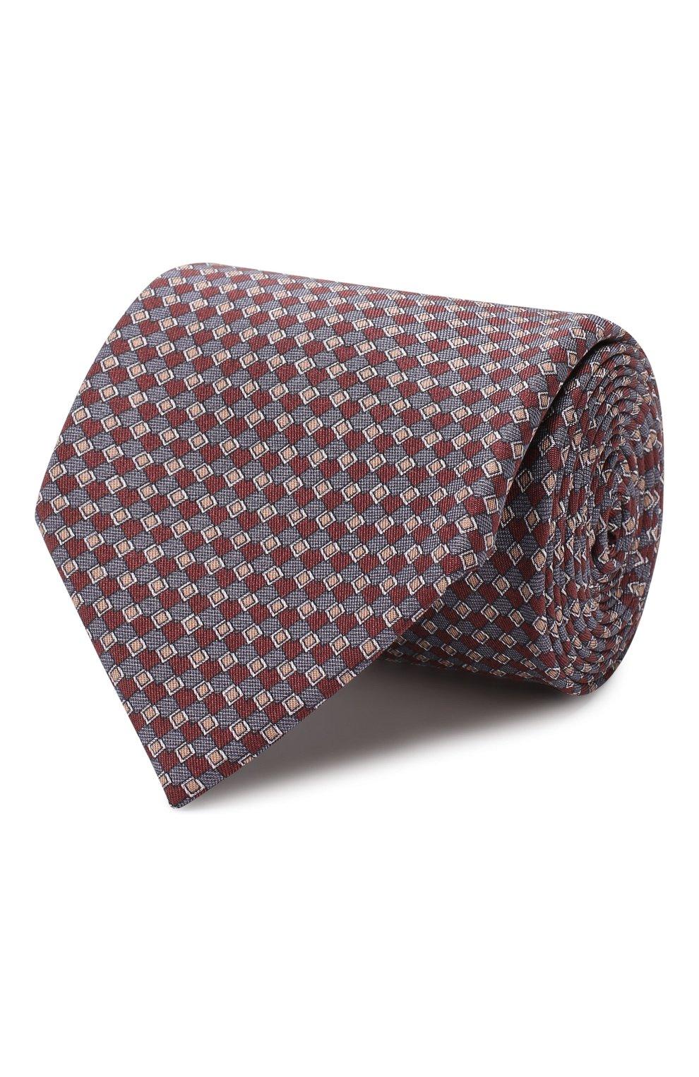 Мужской комплект из галстука и платка BRIONI бордового цвета, арт. 08A900/08477 | Фото 1