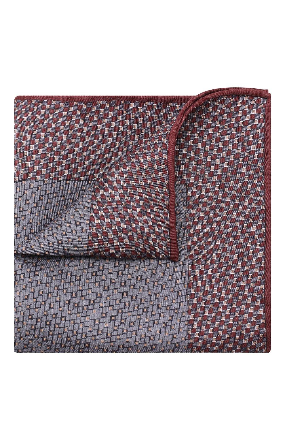 Мужской комплект из галстука и платка BRIONI бордового цвета, арт. 08A900/08477 | Фото 4