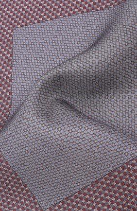 Мужской комплект из галстука и платка BRIONI бордового цвета, арт. 08A900/08477 | Фото 5
