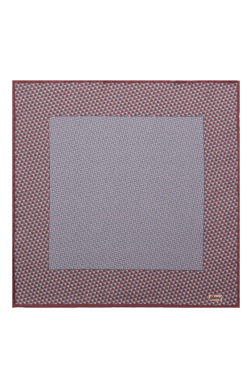 Мужской комплект из галстука и платка BRIONI бордового цвета, арт. 08A900/08477 | Фото 6