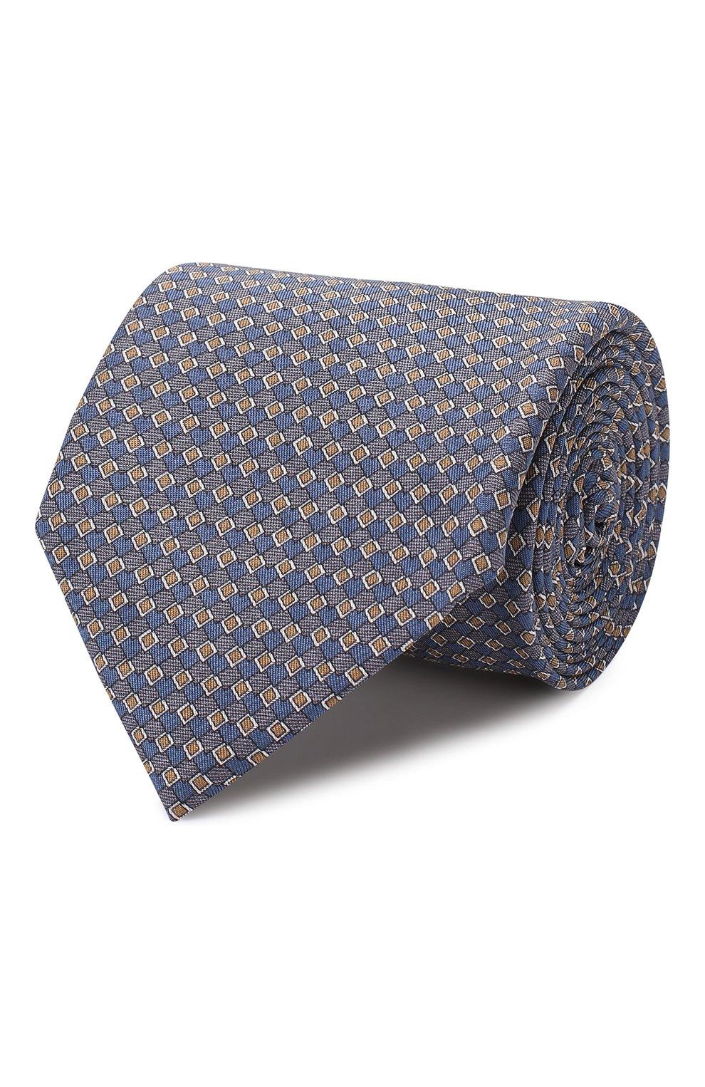 Мужской комплект из галстука и платка BRIONI голубого цвета, арт. 08A900/08477 | Фото 1