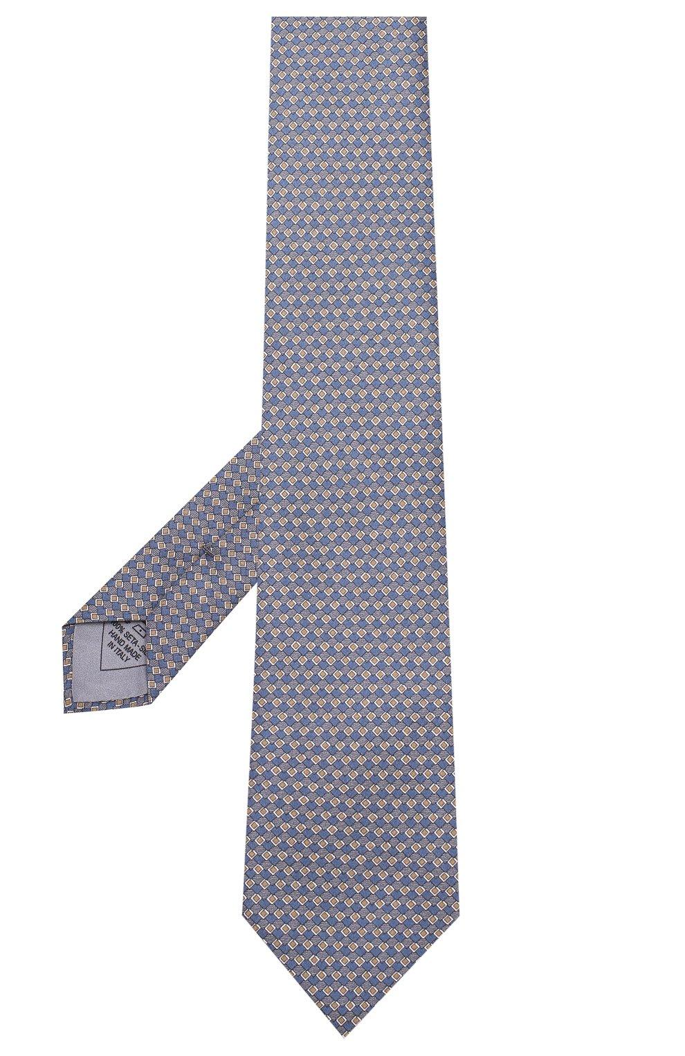 Мужской комплект из галстука и платка BRIONI голубого цвета, арт. 08A900/08477 | Фото 2