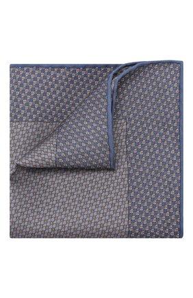 Мужской комплект из галстука и платка BRIONI голубого цвета, арт. 08A900/08477 | Фото 4