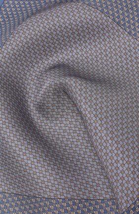 Мужской комплект из галстука и платка BRIONI голубого цвета, арт. 08A900/08477 | Фото 5
