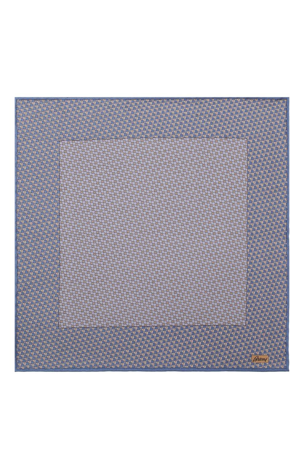 Мужской комплект из галстука и платка BRIONI голубого цвета, арт. 08A900/08477 | Фото 6