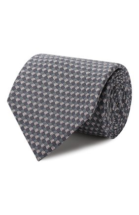 Мужской комплект из галстука и платка BRIONI синего цвета, арт. 08A900/08477 | Фото 1