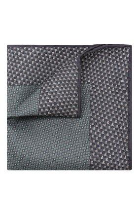 Мужской комплект из галстука и платка BRIONI синего цвета, арт. 08A900/08477 | Фото 4
