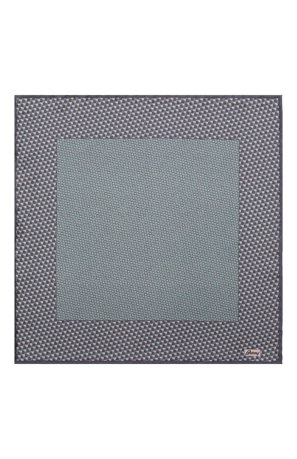Мужской комплект из галстука и платка BRIONI синего цвета, арт. 08A900/08477 | Фото 6