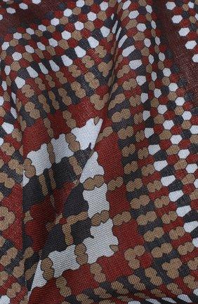 Мужской платок из смеси шерсти и шелка BRIONI бордового цвета, арт. 071000/08A9H | Фото 2