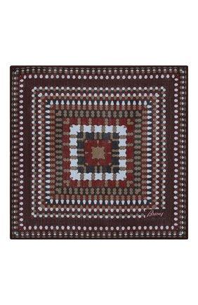 Мужской платок из смеси шерсти и шелка BRIONI бордового цвета, арт. 071000/08A9H | Фото 3