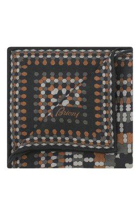 Мужской платок из смеси шерсти и шелка BRIONI разноцветного цвета, арт. 071000/08A9H   Фото 1 (Материал: Шерсть; Статус проверки: Проверено)