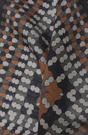 Мужской платок из смеси шерсти и шелка BRIONI разноцветного цвета, арт. 071000/08A9H   Фото 2 (Материал: Шерсть; Статус проверки: Проверено)