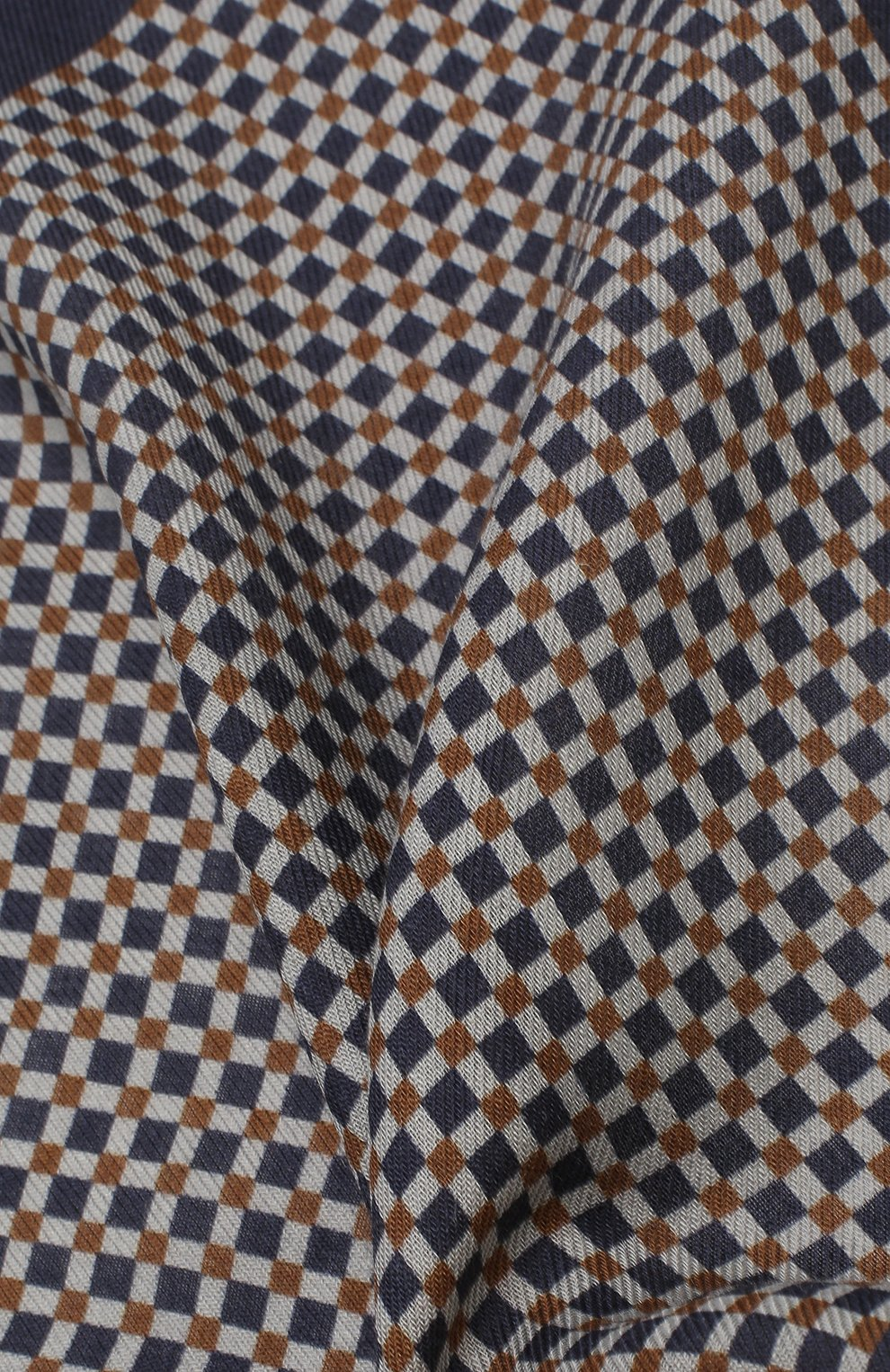 Мужской платок из смеси шерсти и шелка BRIONI синего цвета, арт. 071000/08A9G   Фото 2