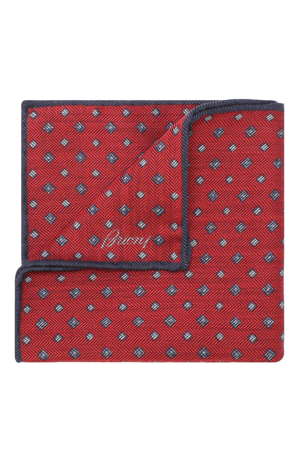 Мужской платок из смеси шерсти и шелка BRIONI красного цвета, арт. 071000/08A9F   Фото 1