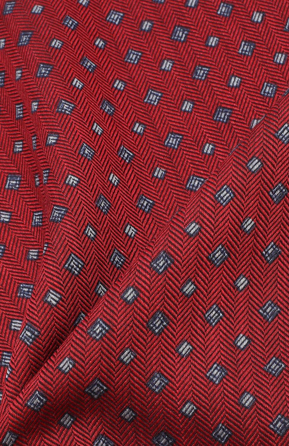 Мужской платок из смеси шерсти и шелка BRIONI красного цвета, арт. 071000/08A9F   Фото 2