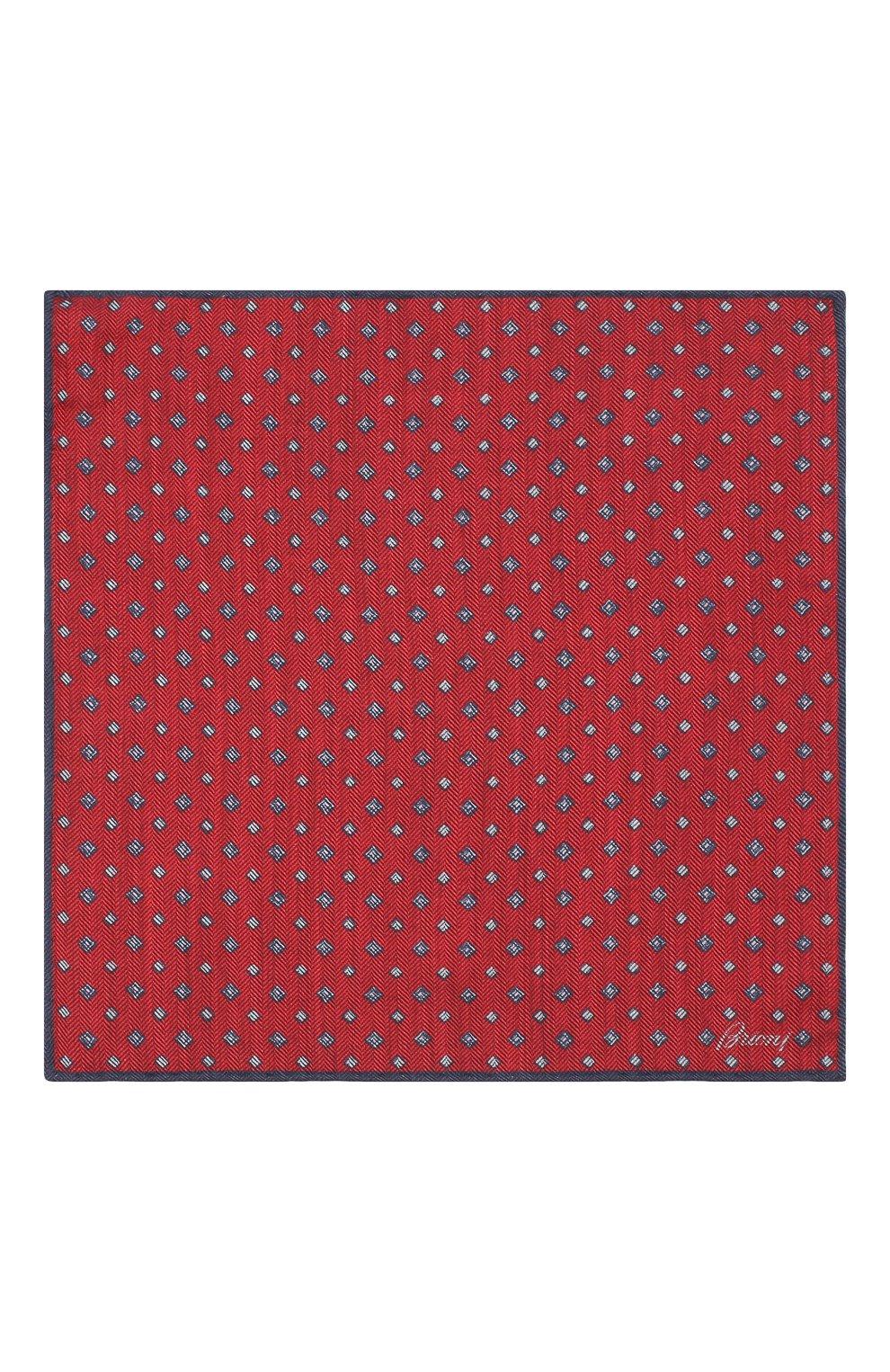 Мужской платок из смеси шерсти и шелка BRIONI красного цвета, арт. 071000/08A9F   Фото 3