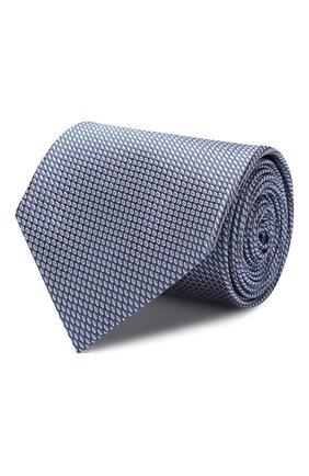Мужской шелковый галстук BRIONI голубого цвета, арт. 062I00/08443 | Фото 1