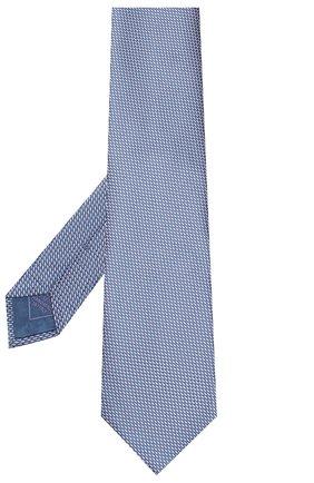 Мужской шелковый галстук BRIONI голубого цвета, арт. 062I00/08443 | Фото 2