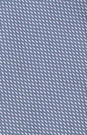 Мужской шелковый галстук BRIONI голубого цвета, арт. 062I00/08443 | Фото 3