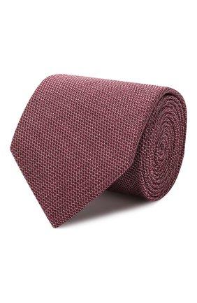 Мужской шелковый галстук BRIONI бордового цвета, арт. 061D00/08438 | Фото 1
