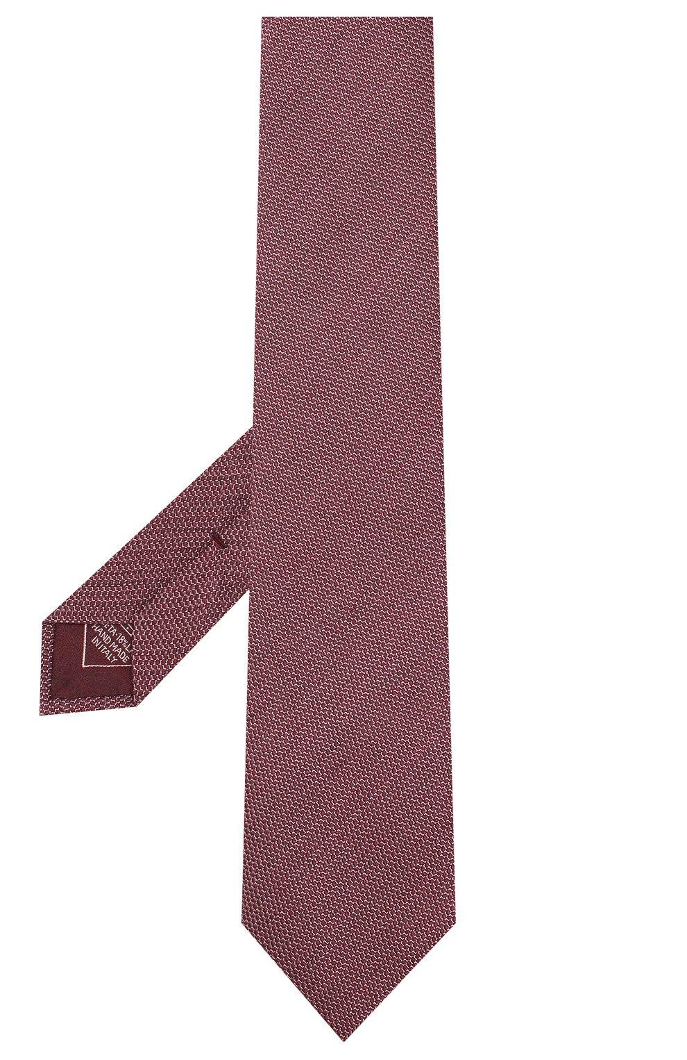 Мужской шелковый галстук BRIONI бордового цвета, арт. 061D00/08438 | Фото 2