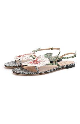 Кожаные сандалии Valentino Garavani Hibiscus | Фото №1