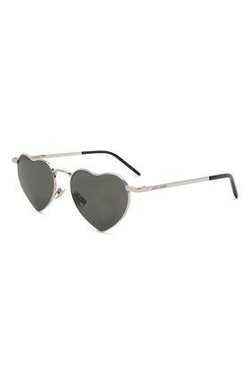 Женские солнцезащитные очки SAINT LAURENT серого цвета, арт. SL 301 L0UL0U | Фото 1 (Статус проверки: Проверена категория, Проверено; Тип очков: С/з; Оптика Гендер: оптика-женское)