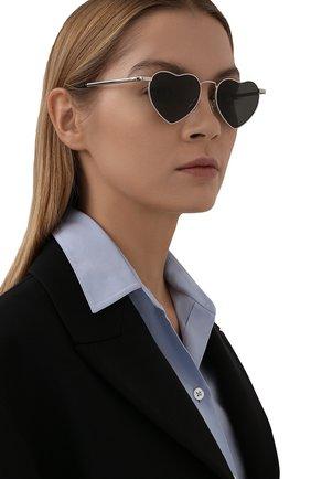Женские солнцезащитные очки SAINT LAURENT серого цвета, арт. SL 301 L0UL0U | Фото 2 (Статус проверки: Проверена категория, Проверено; Тип очков: С/з; Оптика Гендер: оптика-женское)