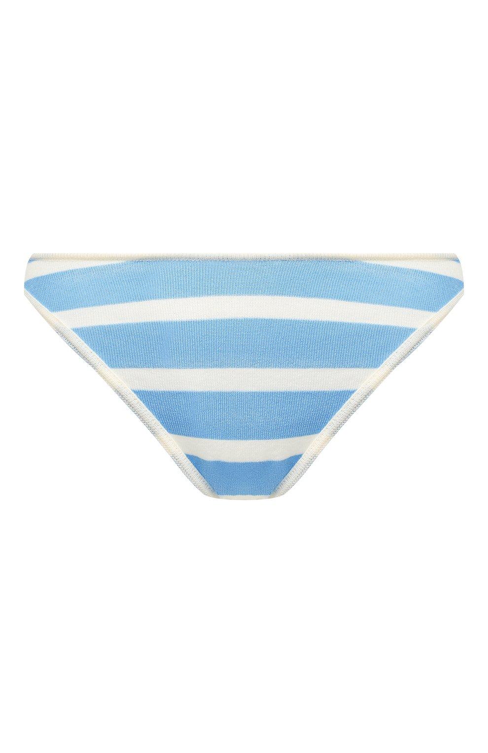 Женский трусы из смеси вискозы и шерсти JACQUEMUS голубого цвета, арт. 192KN17/42341 | Фото 1