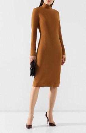 Женское замшевое платье RALPH LAUREN коричневого цвета, арт. 290760053 | Фото 2