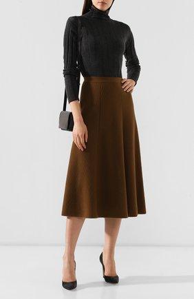 Женская кашемировая юбка LORO PIANA коричневого цвета, арт. FAI6692 | Фото 2