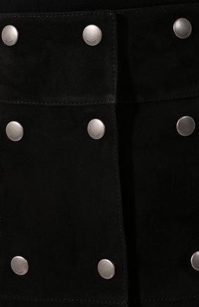 Женская кожаная юбка SAINT LAURENT черного цвета, арт. 572284/YC2RK | Фото 5