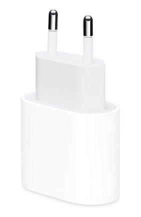 Мужской сетевой адаптер питания usb-c 18w APPLE белого цвета, арт. MU7V2ZM/A | Фото 1