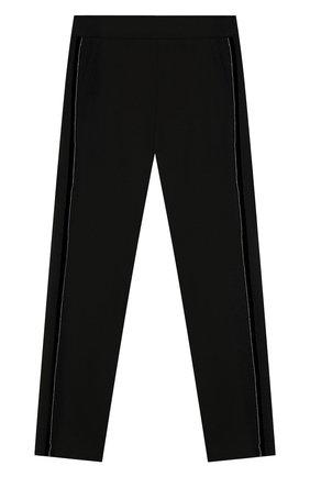 Детского брюки из вискозы ALETTA черного цвета, арт. AF999402/4A-8A | Фото 1