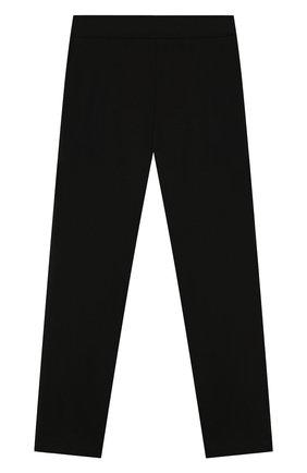 Детского брюки из вискозы ALETTA черного цвета, арт. AF999402/4A-8A | Фото 2