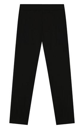 Детские брюки из вискозы ALETTA черного цвета, арт. AF999402/9A-16A | Фото 2