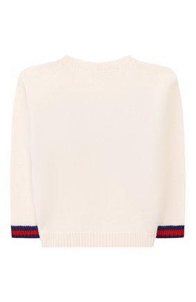 Детский шерстяной пуловер GUCCI белого цвета, арт. 565223/XKANG | Фото 2