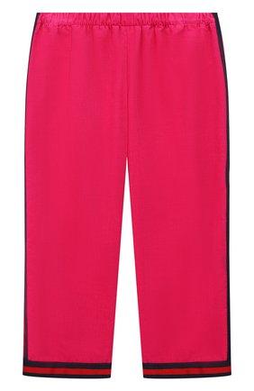 Детские хлопковые брюки GUCCI розового цвета, арт. 542994/ZABWX | Фото 1