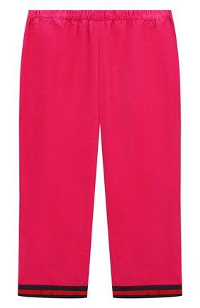 Детские хлопковые брюки GUCCI розового цвета, арт. 542994/ZABWX | Фото 2